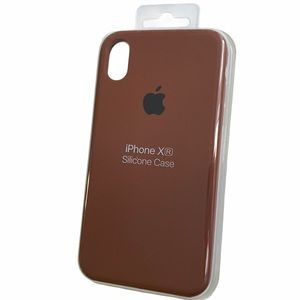 Brown Silicone IPhone XR case